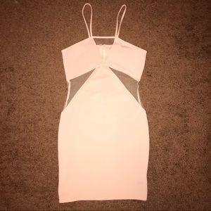 Tobi Pink Mesh Bodycon Dress